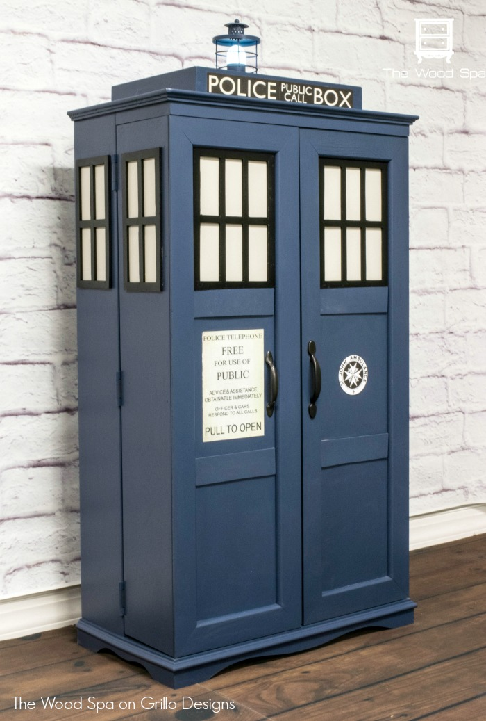 How To Turn A Cabinet Into A Dr Who Tardis Grillo Designs