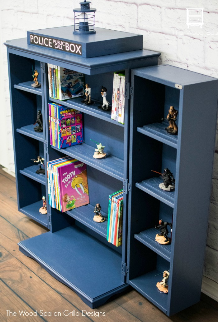 How To Turn A Cabinet Into Dr Who Tardis O Grillo Designs
