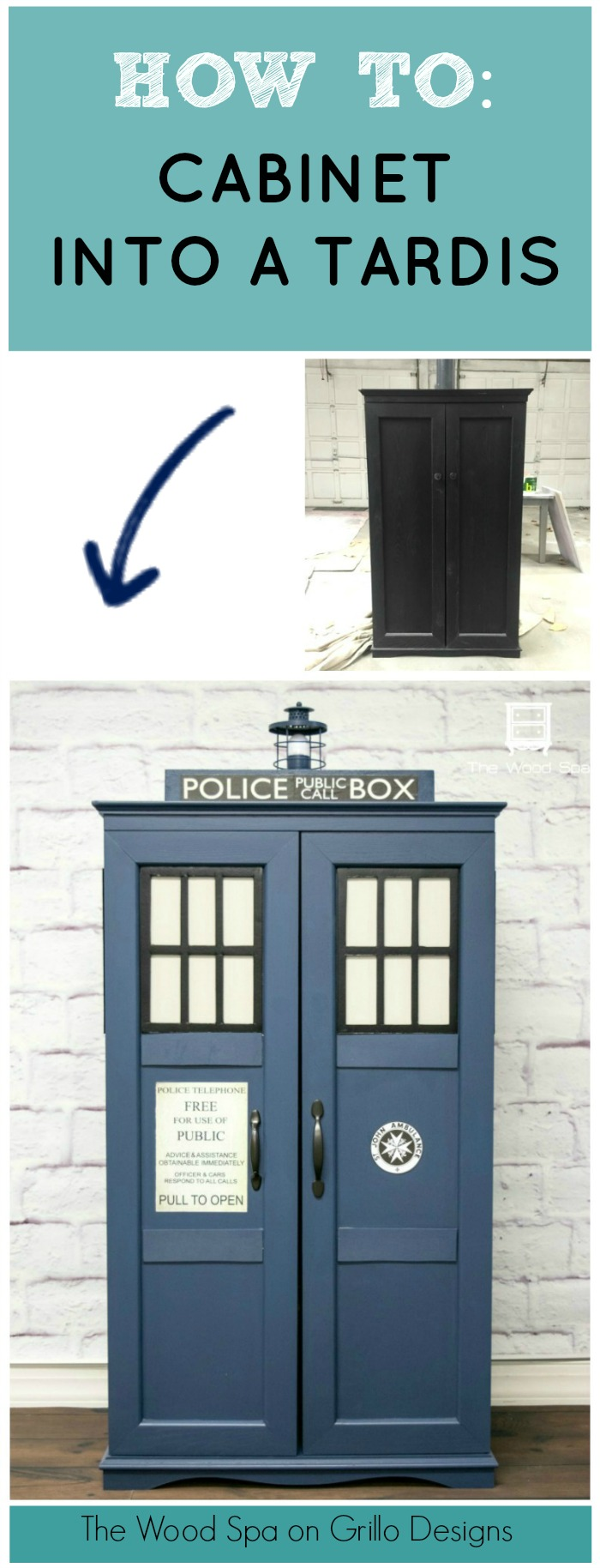 How To Turn A Cabinet into A Dr Who Tardis