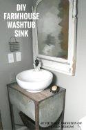 DIY FARMHOUSE WASHTUB SINK 6