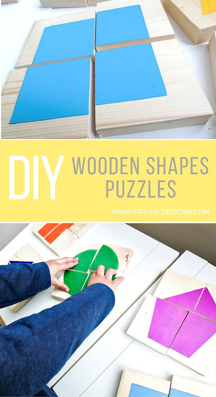 DIY shapes wooden puzzles 7