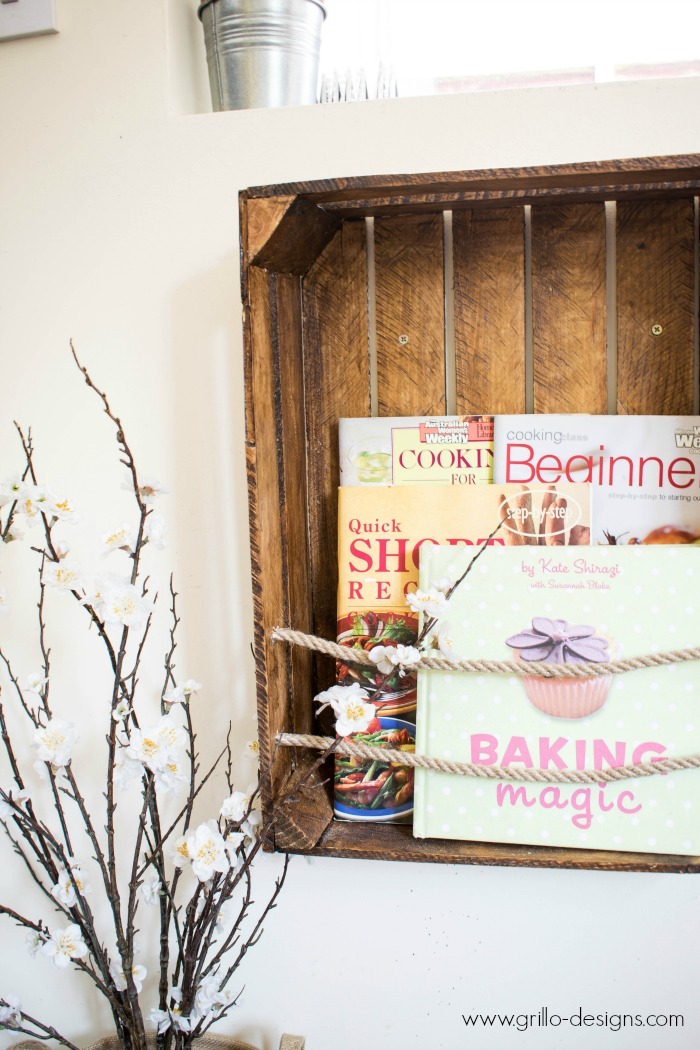 DIY Crate Bookshelf With Rope Create Me Challenge O Grillo