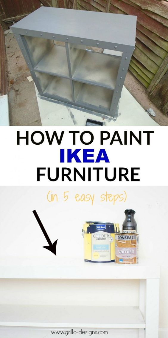 To be able to ikea hack you first need to know how to paint ikea furniture