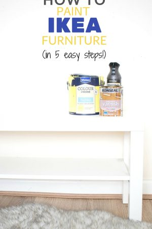 how to paint ikea furniture - and sealing with clear and dark wax