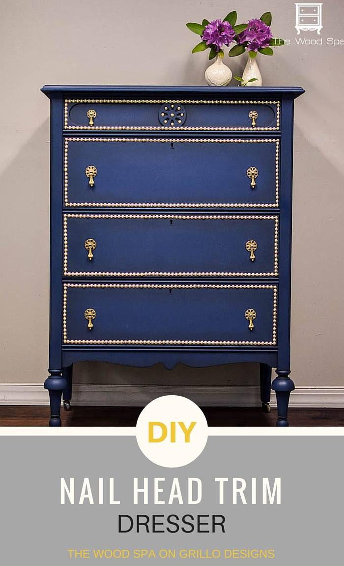 Another painted dresser makeover similar to the ombre dresser / Grillo Designs www.grillo-designs.com