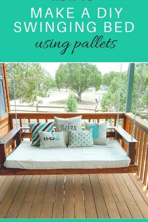 How to make a DIY swinging GARDEN bed using palleta