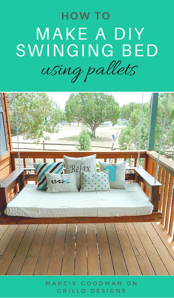 How to make a DIY swinging bed using palleta