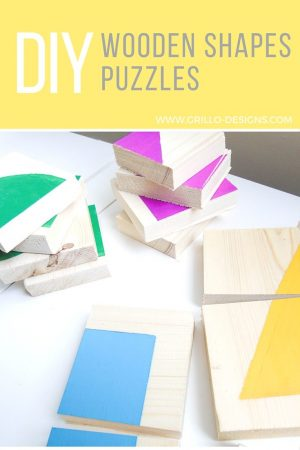 If you have wooden scrap pieces lying around, then these DIY shapes puzzles are the perfect learning activity for your toddlers. They are simple to make and will give your kids so much fun and enjoyment as they learn though play!