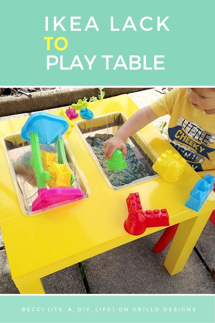 Becci from its_a_diy_life shares how she hacked an IKEA LACK table into a play table for her son and his friends! Save costs and try this kid friendly IKEA hack that will give your kids hours of fun play!