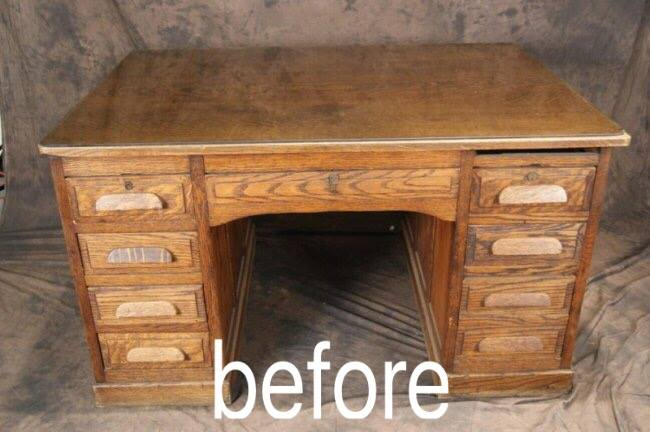 diy desk to bench before - DIY Desk To Bench • Grillo Designs