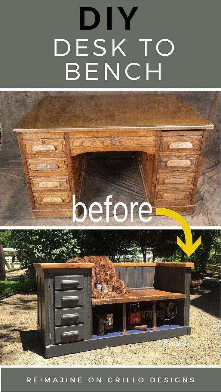 From Desk To Bench | Repurposed Furniture Projects In Time For Father's Day