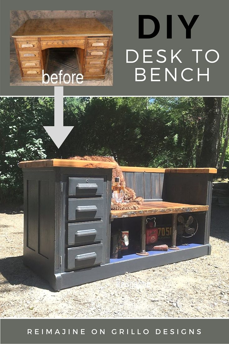 Diy Desk To Bench Grillo Designs