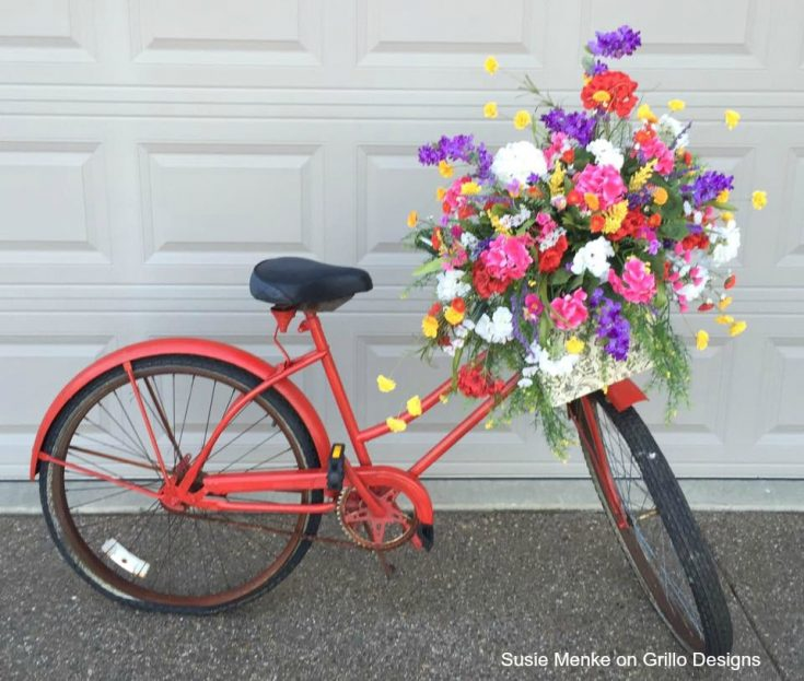 planter ideas bike