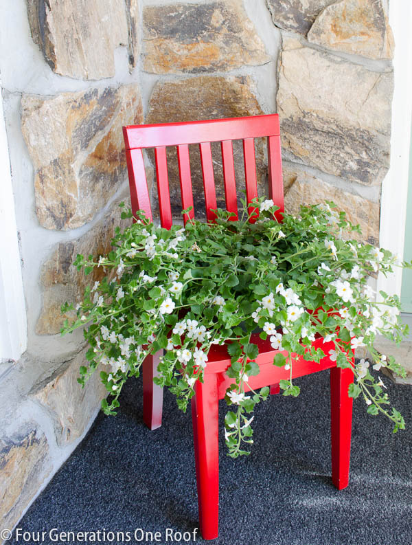planter ideas chair