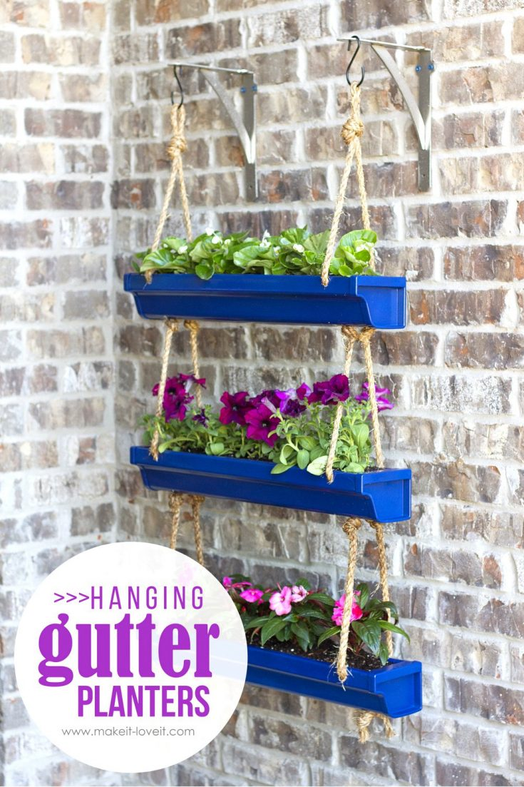 planter ideas hanging gutters
