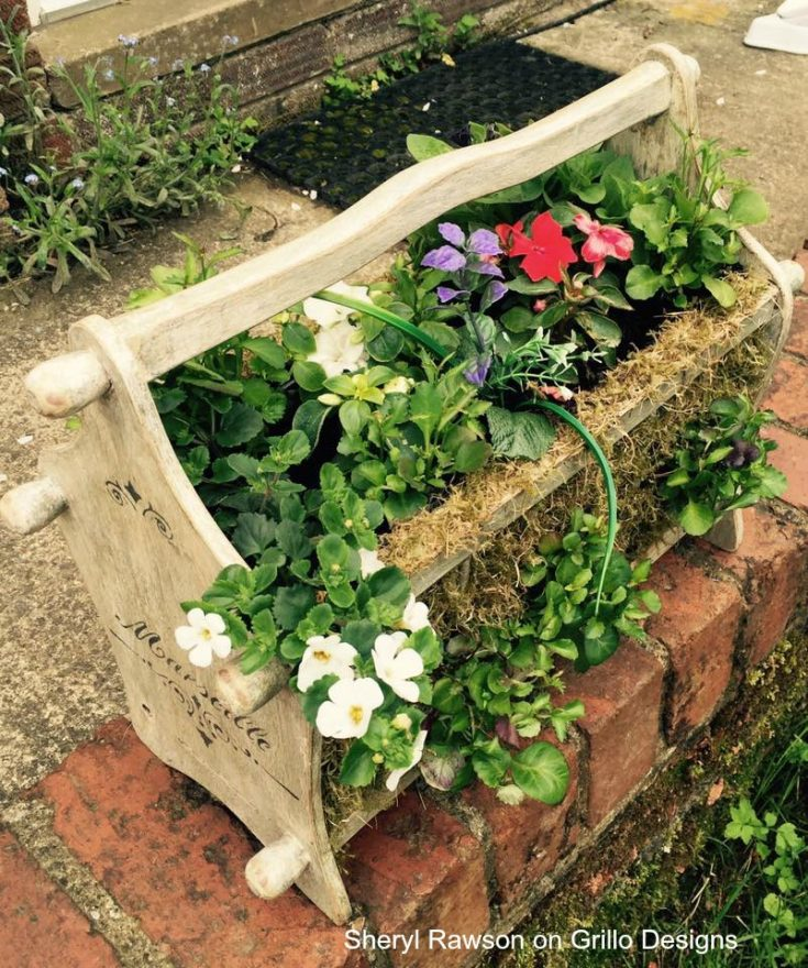planter ideas magazine rack