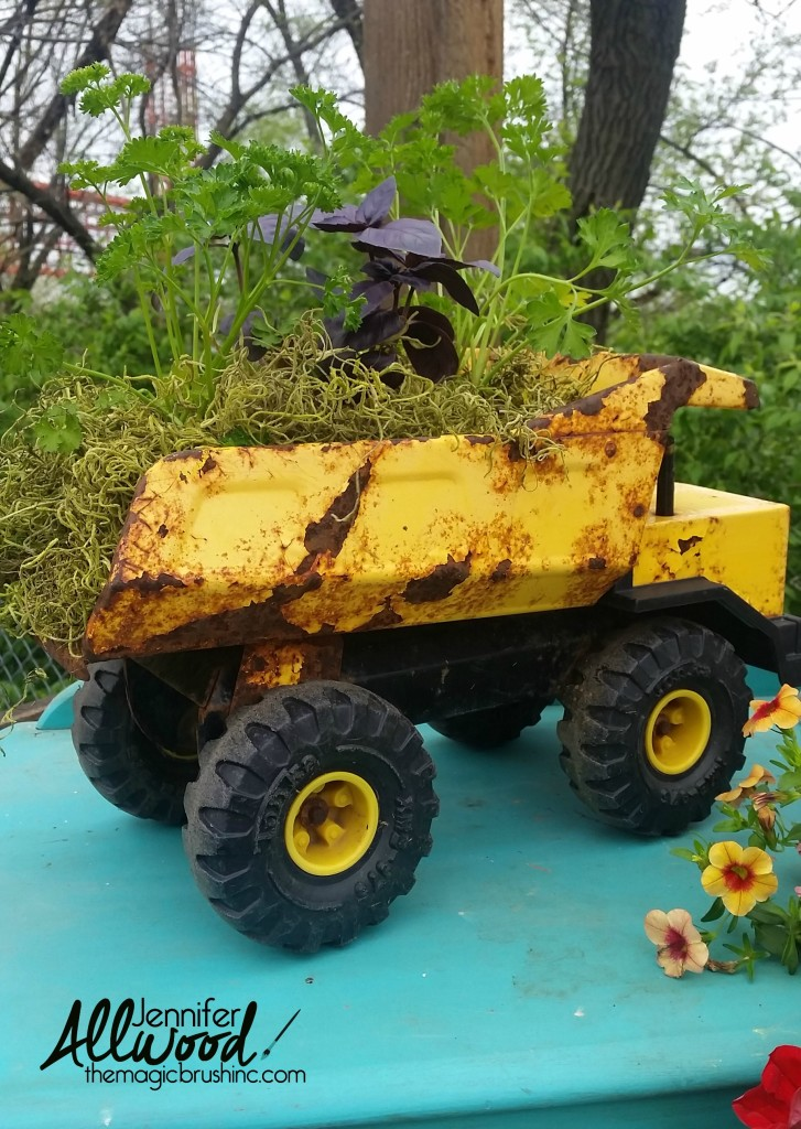 planter ideas tonka truck