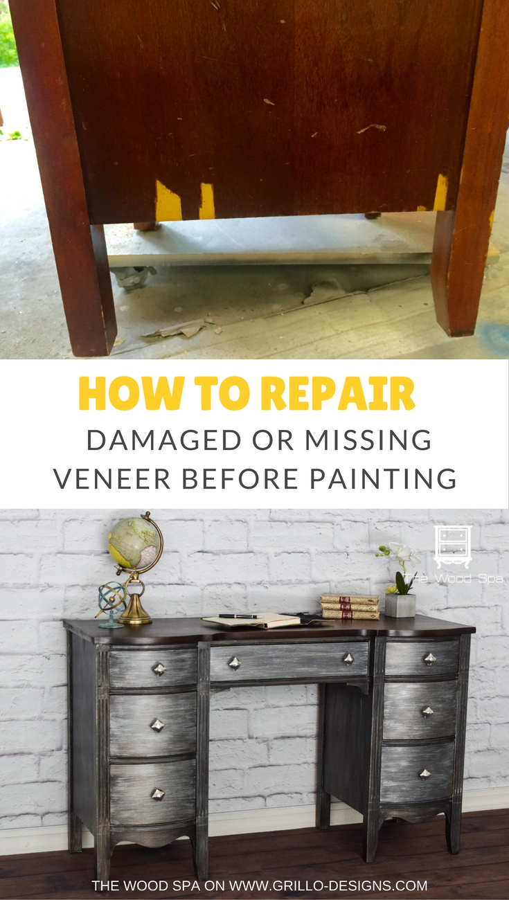 How To Repair Damaged Veneer Before Painting Furniture