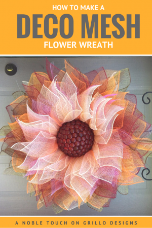 deco mesh flower wreath by a noble touch /Grillo Designs www.grillo-designs.com