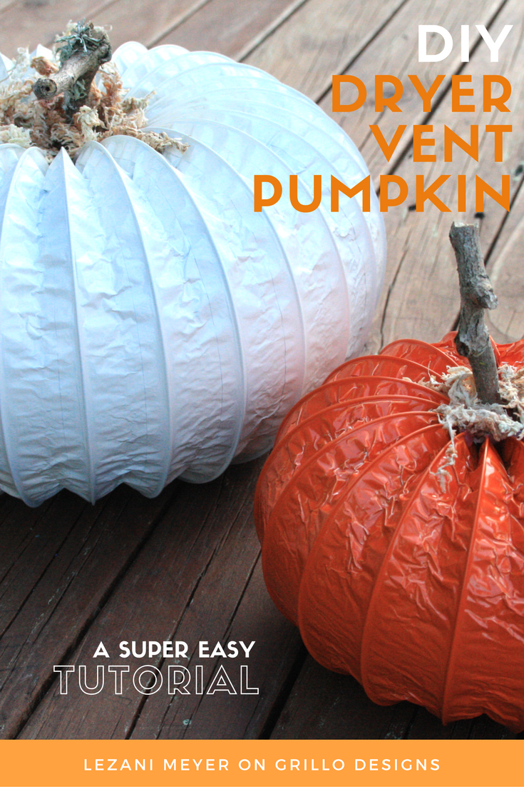 Dryer Vent Pumpkin Tutorial Perfect For Fall