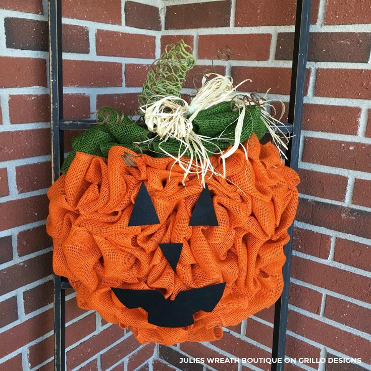 DIY PUMPKIN WREATH JACK O LANTERN