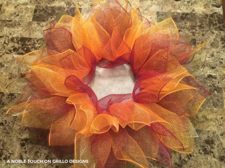 Flower- Deco- Mesh -Wreath