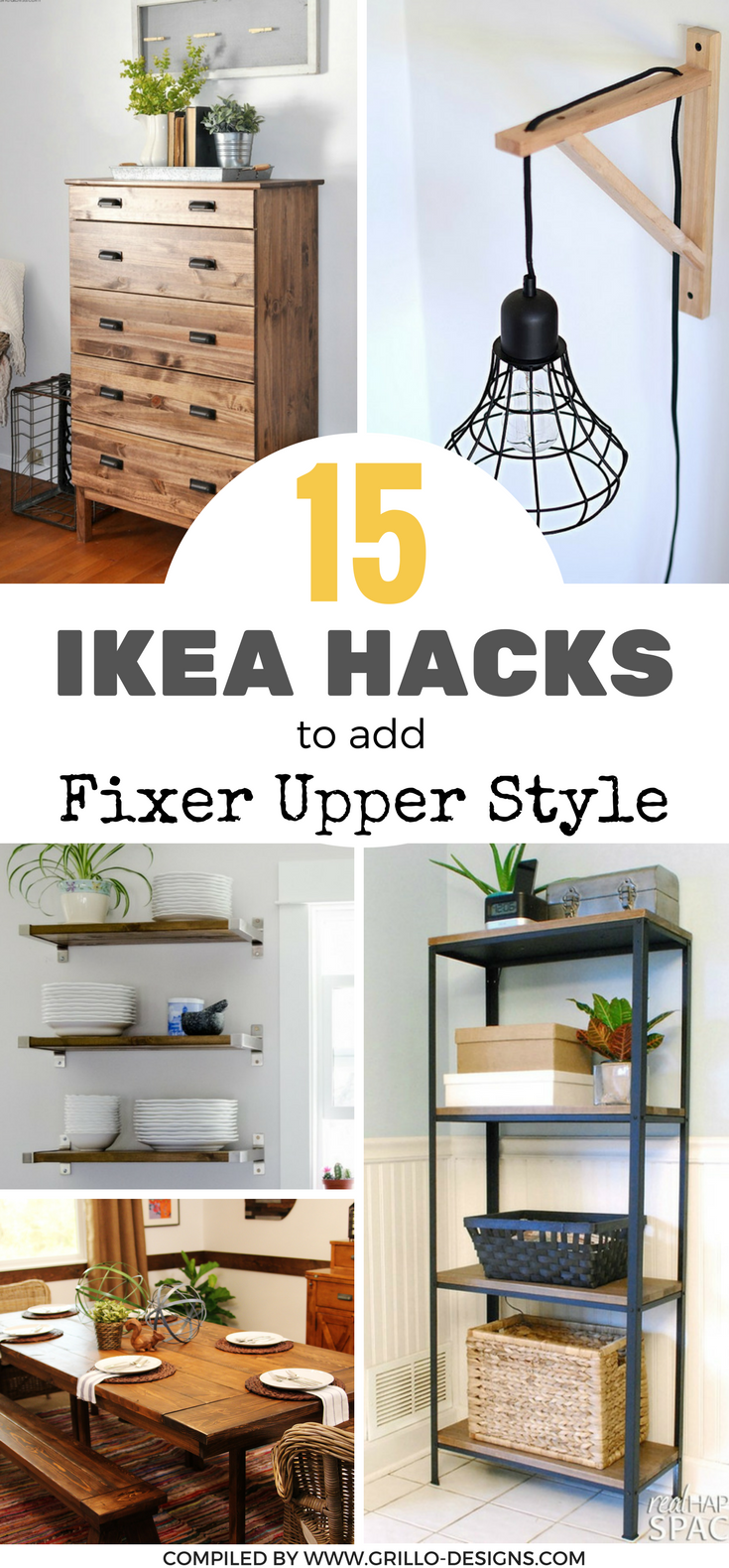 15 ikea hacks to add fixer upper style to your home for Does the furniture stay on fixer upper