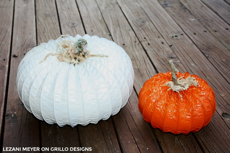 diy pumpkin using a dryer vent / The Grillo Designs Blog www.grillo-designs.com