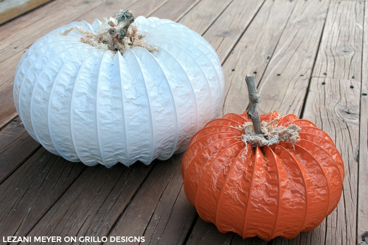 dryer vent pumpkin tutorial / The Grillo Designs Blog www.grillo-designs.com