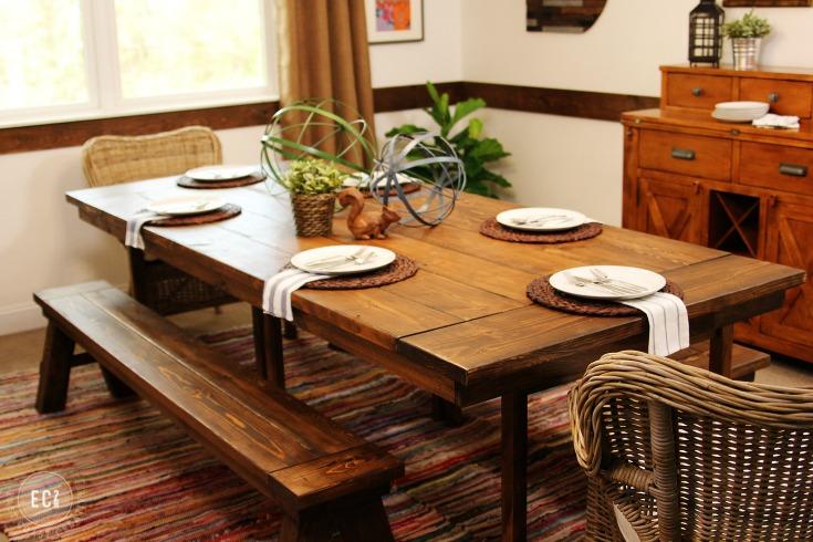 IKEA INGO becomes a fixer upper style farmhouse table / Grillo Designs Blog www.grillo-designs.com