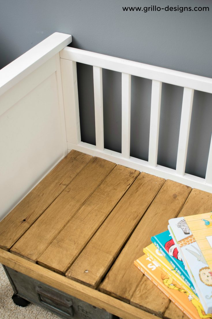 repurposed crib.cot to bench 66