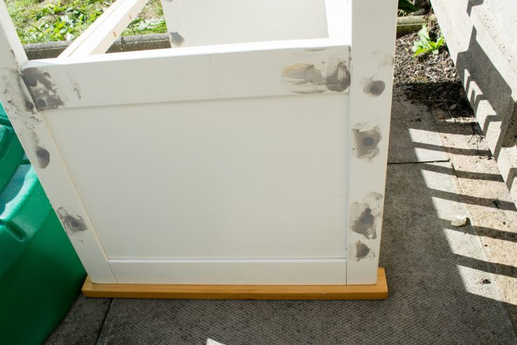 repurposed crib:cot into a bench 13