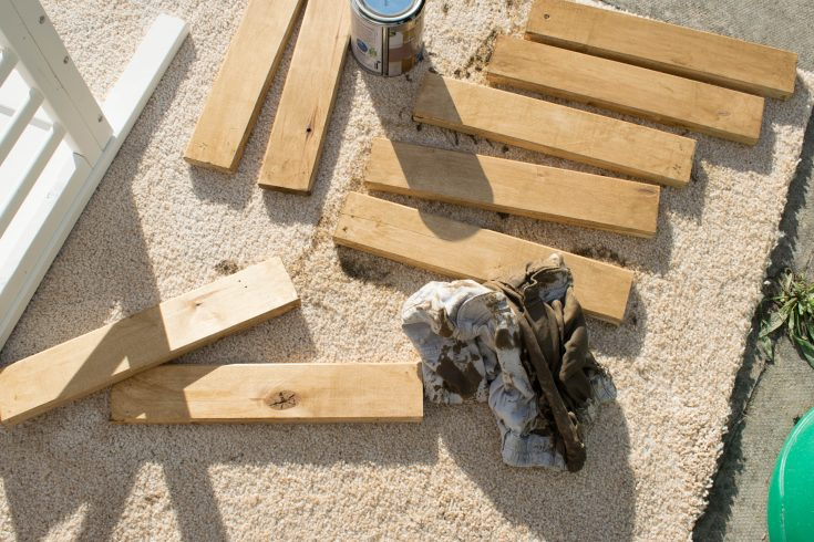 repurposed crib:cot into a bench 17