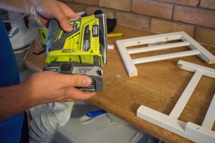 repurposed crib:cot into a bench 5