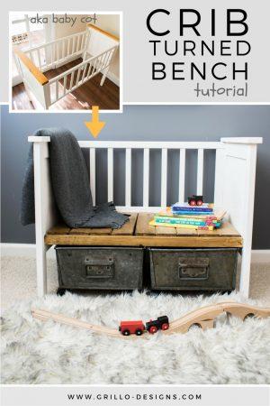 how to turn a cot into a bench / Grillo Designs www.grillo-designs.com