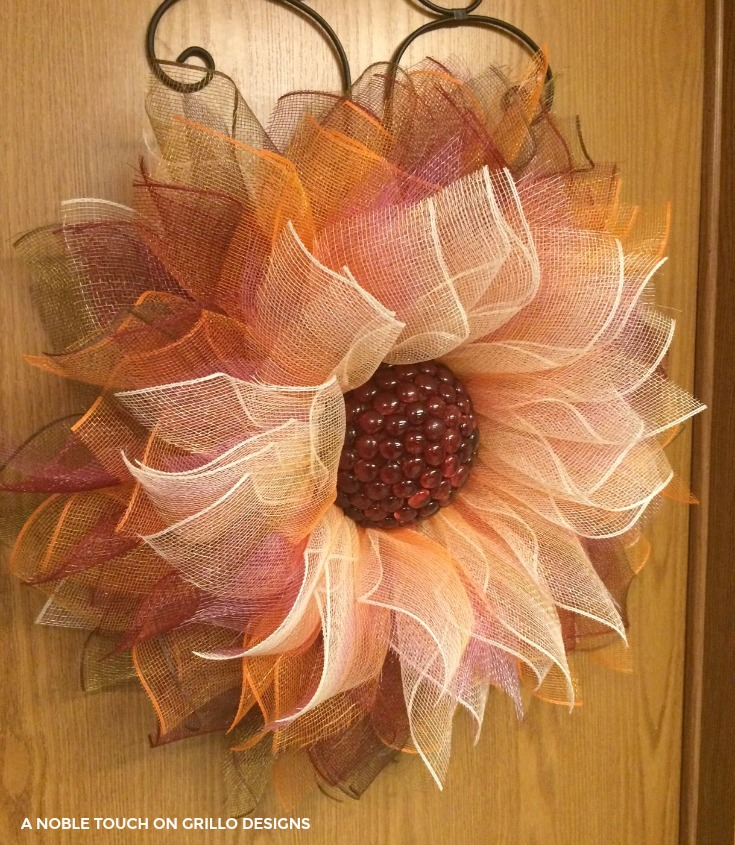 Flower- Deco- Mesh -Wreath
