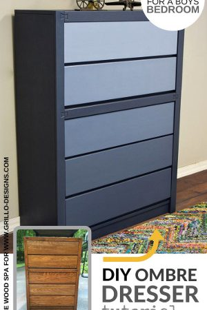 ombre effect on a midcentre dresser makeover grillo designs