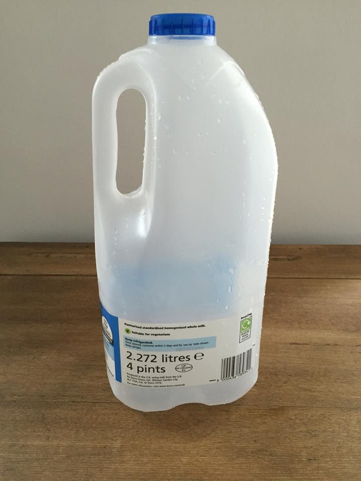 Empty Plastic Milk Carton