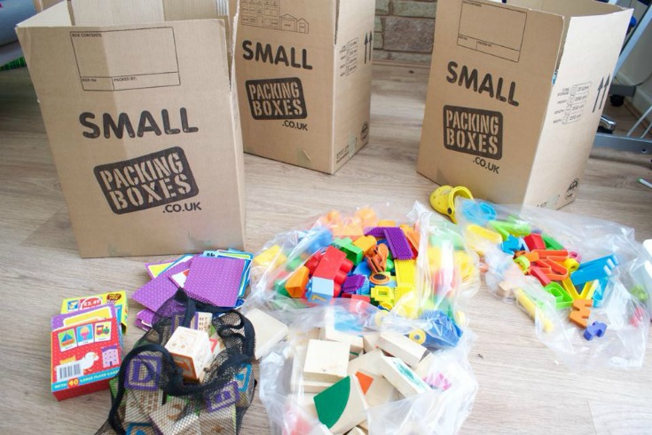 pack your moving boxes at least a month in advance before moving house / grillo designs www.grillo-designs.com