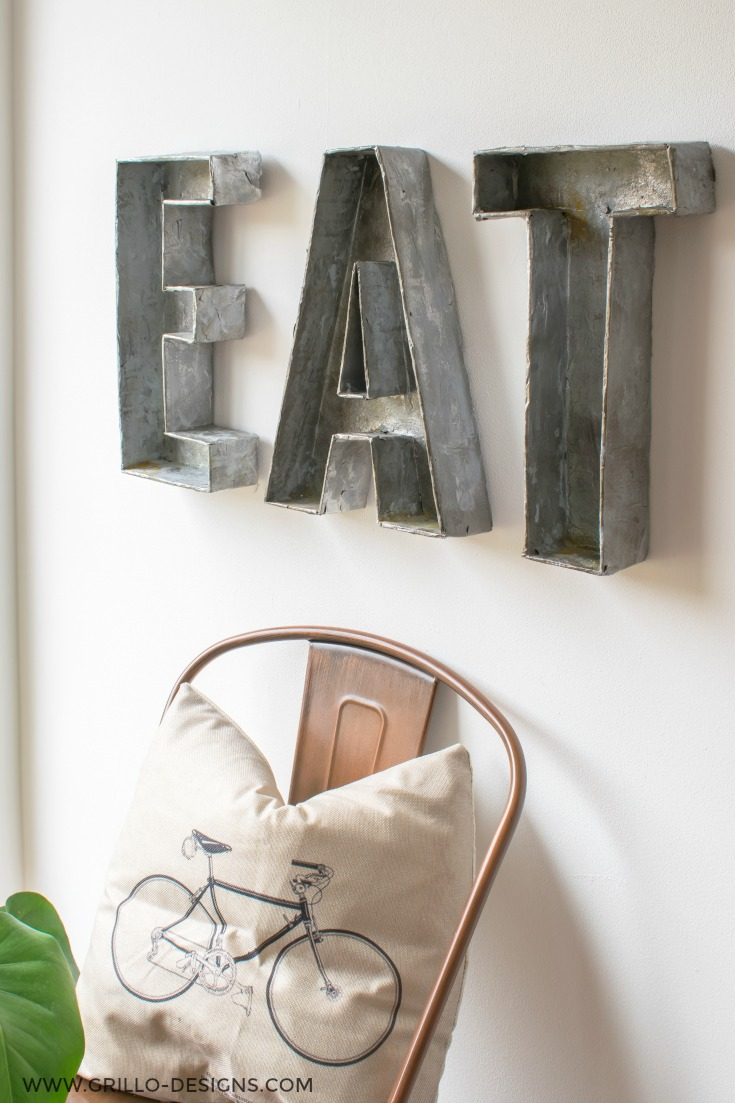 INDUSTRIAL STYLE FAUX METAL LETTERS / WWW.GRILLO-DESIGNS.COM