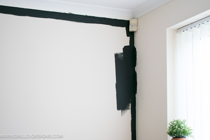 the trick to painting a chalkboard wall (blackboard wall)/ grillo designs www.grillo-designs.com