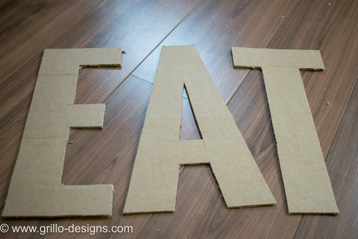 DIY FAUX METAL LETTERS EASY TUTORIAL / WWW.GRILLO-DESIGNS.COM