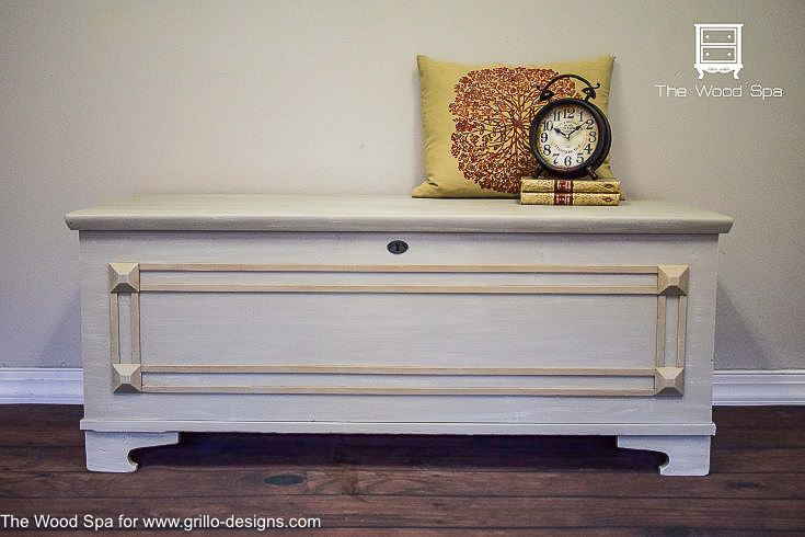Diy tutorial antiquing wood Wood Crate Dark Wax Effects On Ceder Box Grillo Designs Wwwgrillodesigns Grillo Designs How To Use Dark Wax To Antique Furniture Grillo Designs
