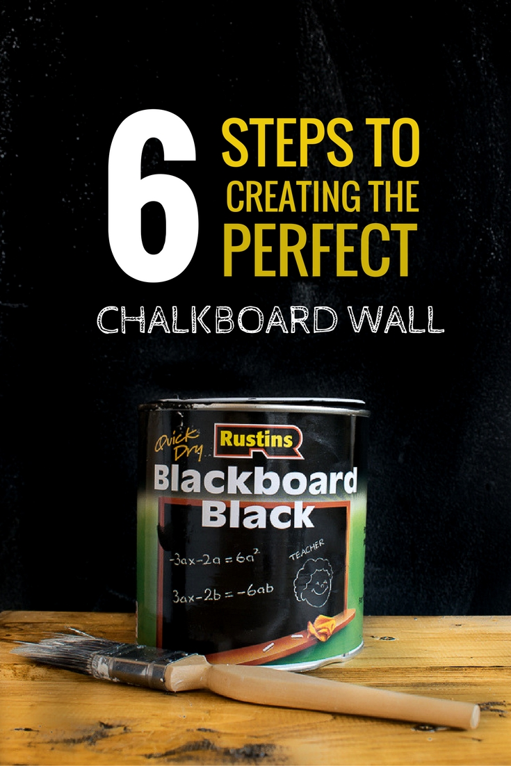 tutorial on how to paint a chalkboard wall / Grillo Designs www.grillo-designs.com