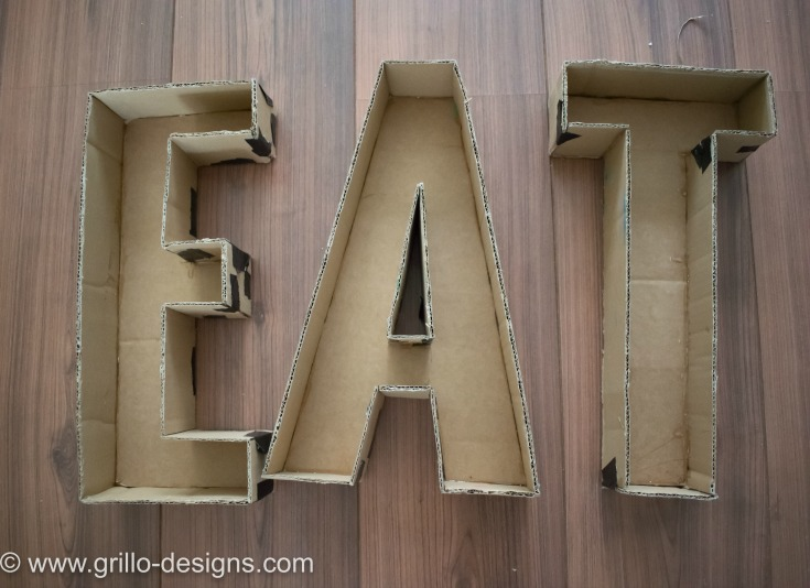 INDUSTRIAL DESIGN FAUX METAL LETTERS / WWW.GRILLO-DESIGNS.COM