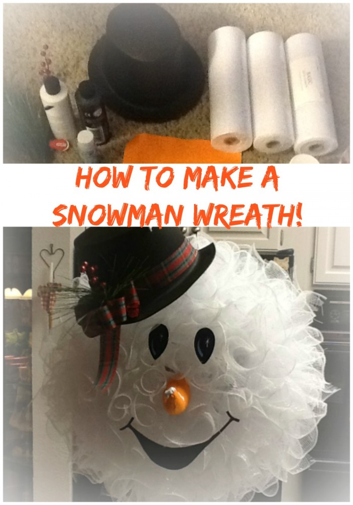 Learn how to make an easy diy snowman wreath by peggy bond / Grillo Designs Blog www.grillo-designs.com