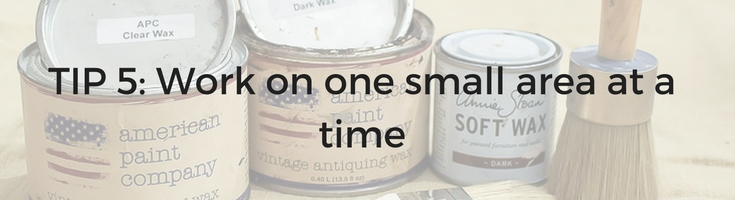 Tip 5 on using dark wax to antique furniture / Grillo Designs www.grillo-designs.com