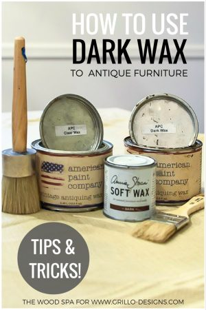 how to use dark wax over painted furniture / Grillo Designs www.grillo-designs.com