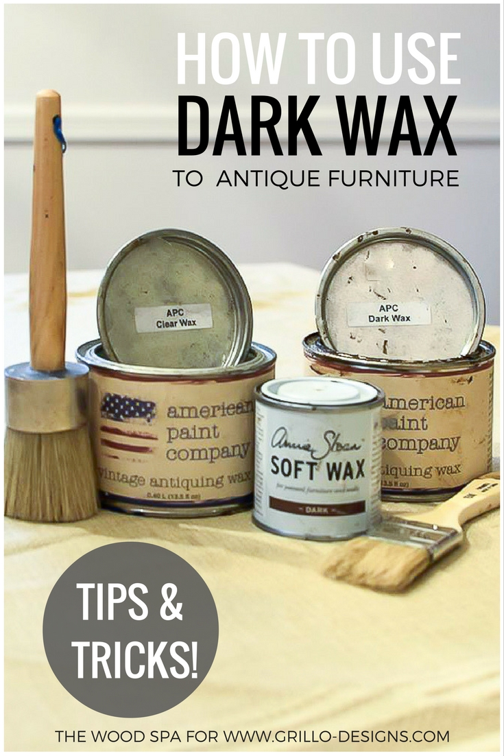 Easy to follow tutorial on how to use dark wax to antique furniture / Grillo Designs www.grillo-designs.com