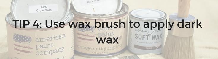 Tip 4 on using dark wax to antique furniture / Grillo Designs www.grillo-designs.com